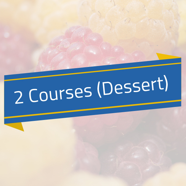 Hot – 2 Courses (Main/Dessert)