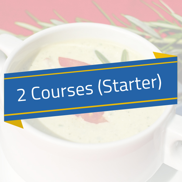 Hot – 2 Courses (Starter/Main)