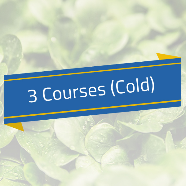 Cold – 3 Courses (Juice/Salad/Yoghurt)