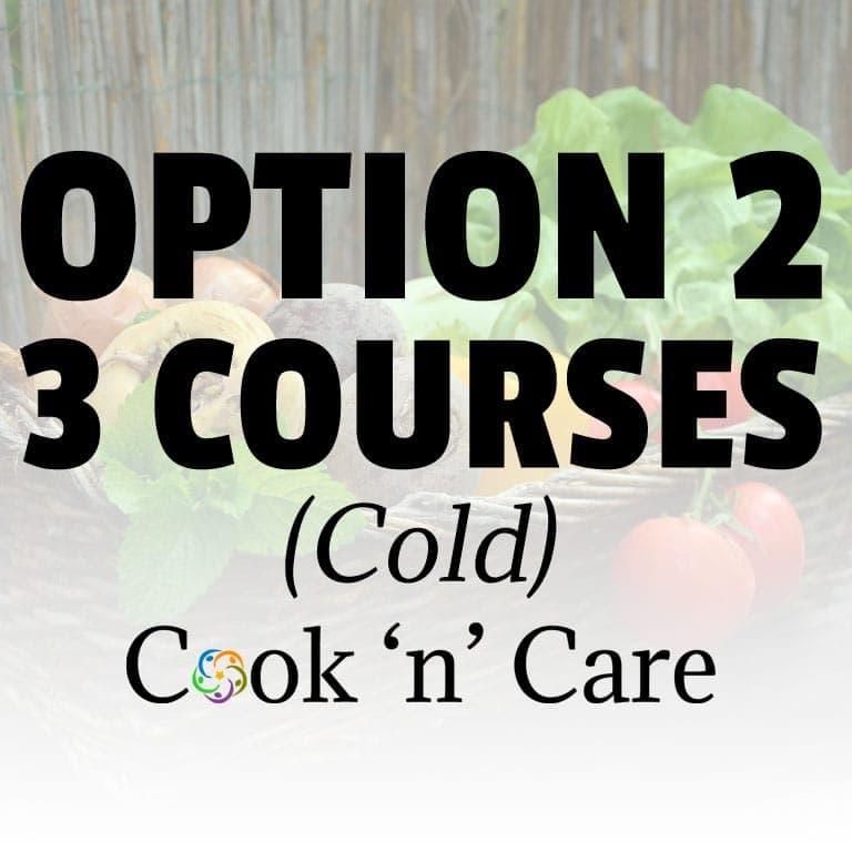 Option 2 – Cold – 3 Courses (Juice/Salad/Yoghurt)
