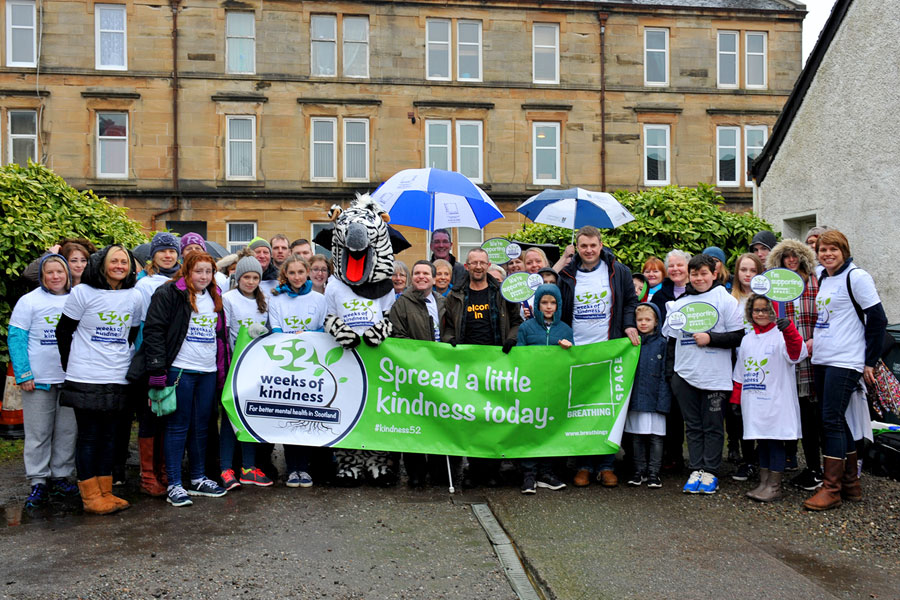 52 Weeks Of Kindness As Volunteers Turn Out for Breathing Space Day